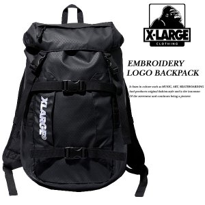 EMBROIDERY LOGO BACKPACK BLACK|archrival