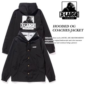 HOODED OG LOGO COACHES JACKET BLACK|archrival