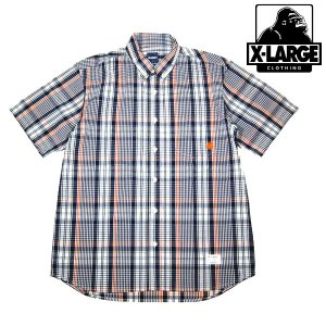 X-Large BIG PLAID SHIRT ORANGE エキストララージ|archrival