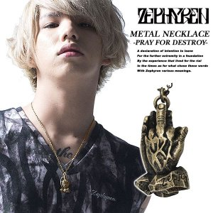 Zephyren METAL NECKLACE -PRAY FOR DESTROY- antique gold ゼファレン|archrival