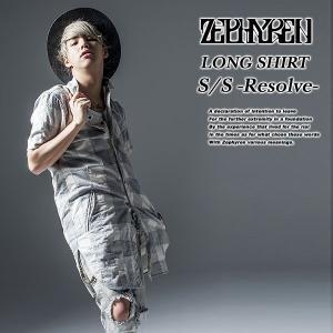 Zephyren LONG SHIRT S/S -Resolve- WHITE 半袖 ロングシャツ ホワイト 白 ゼファレン|archrival