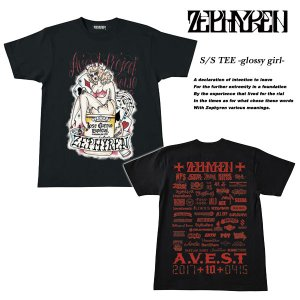 S/S TEE -glossy girl-  Zephyren presents A.V.E.S.T project Vol.10 会場限定 Tシャツ BLACK  ゼファレン|archrival
