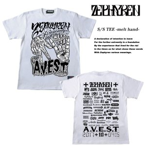 S/S TEE -melt hand-  Zephyren presents A.V.E.S.T project Vol.10 会場限定 Tシャツ WHITE  ゼファレン|archrival