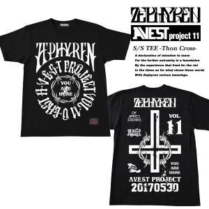 S/S TEE -THORN CROSS-  Zephyren presents A.V.E.S.T project Vol.11 会場限定 Tシャツ BLACK  ゼファレン|archrival