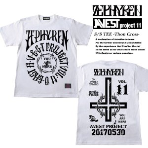 S/S TEE -THORN CROSS-  Zephyren presents A.V.E.S.T project Vol.11 会場限定 Tシャツ WHITE ゼファレン|archrival