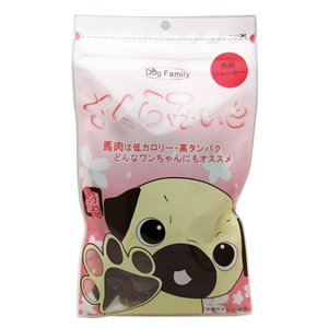 希少な熊本県産馬肉使用 無添加 さくらみぃと馬肺ジャーキー 40g ドッグフード|arcles01