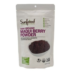オーガニックマキベリーパウダー 113g Sunfood Raw Organic Maqui Berry Powder|arcles01