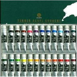 ターナー色彩 アクリルガッシュ (11ml) 24色スクールセット