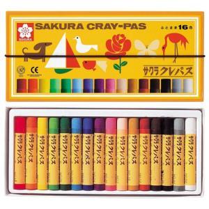 サクラクレパス クレパス太巻 16色セット(ゴム...の商品画像