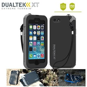 防水規格IP65クリア 米軍MIL規格 指紋認証機能 ストラップ 日本正規代理店品 防水 防塵 耐衝撃 PureGear DualTek XT iPhone5/5S/SE アイフォン ブラック/グレイ