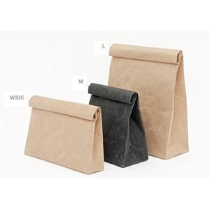大直 SIWA クラッチバッグ L ブラック | 紙和 和紙 紙のクラッチバッグ 深澤直人 丈夫 軽...