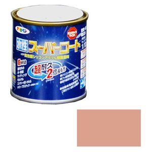アサヒペン 水性スーパーコート 1/12L シャドーピンク ※取寄品