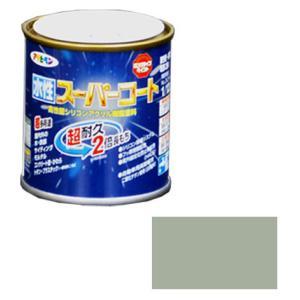 アサヒペン 水性スーパーコート 1/12L ソフトグレー ※取寄品