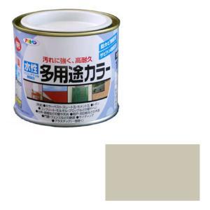 アサヒペン 水性多用途カラー 1/5L ソフトグレー ※取寄品
