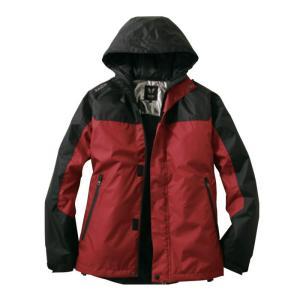 サンエス 雷神 防水防寒ジャケット 8レッド サイズL 服地のみ 取寄品 BO31800-8-L
