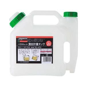 トラスコ 混合計量タンク 2L(1缶価格) TO-KT2