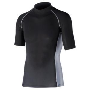おたふく 冷感・消臭 パワーストレッチ 半袖ハイネックシャツ ブラック M ※取寄品 JW-624