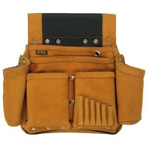 ARDEX ヌバック釘袋 Wポケット(W墨壷ホルダー仕様) 6型 ARDEX-016W