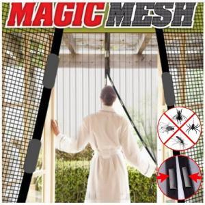 虫よけ 簡単あみ戸 カーテン網戸 マジックメッシュ NEWドア用 工事不要 取り付けラクラク 簡易網戸 ワンタッチ