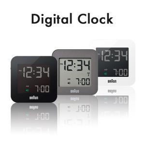 BRAUN ブラウン デジタル時計 置き時計 ブラック グレ...