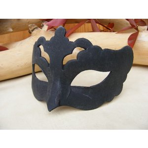 仮面 コスプレ ダンス 手作りマスク 黒 ブラック ベネチアンマスク ペーパークラフト253 イタリア製 変装 仮装 仮面舞踏会 (ハロウィン  アイマスク )|area27