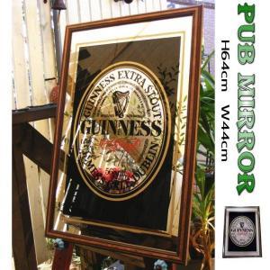 パブミラー ウォールミラー バーミラー 壁掛け鏡 ギネスビール ロゴ (Guinness アイリッシュ バー カフェ  看板 ウイスキー カクテル 用品 )|area27