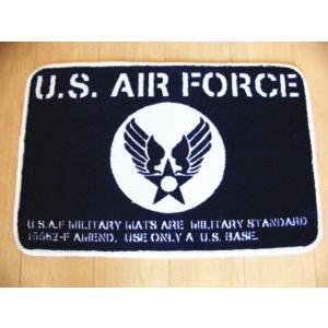 フロアマット U.S.AIR FORCE (エアフォース ブルー)|area27