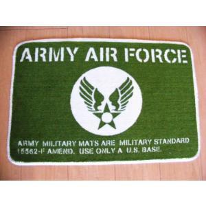 フロアマット U.S.ARMY (アーミー エアフォース グリーン)男前 インテリア 雑貨 ラグマット カーペット ミリタリーファンに|area27