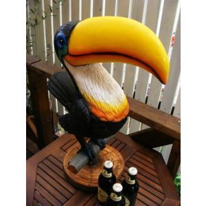 フィギュア オブジェ 置物 鳥型 模型 オオハシ トゥーカン MYNAH  Lサイズ ギネスビール (かわいい おしゃれ ビール お酒 バー bar カクテルグッズ カフェ)|area27