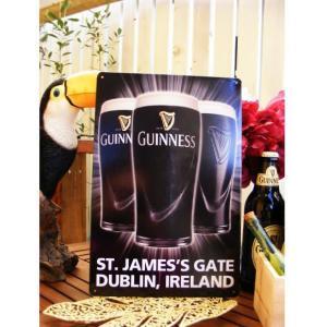 ブリキ看板 サインプレート ギネスビール St. James's Gate 30×20cm アイアン アンティーク 壁掛け 壁飾り レトロ ティンサイン ウォールサイン bar|area27