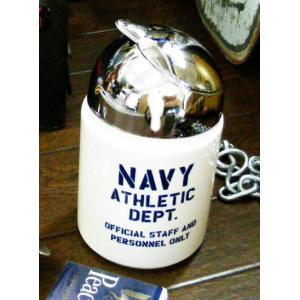 陶器製灰皿 喫煙具 ネービードーム型アシュトレー NAVY(おしゃれ かわいい ガレージ 男前 インテリア 雑貨)|area27