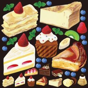 デコレーションシール4933 アクリル絵の具 ケーキ1|area27