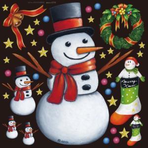 デコレーションシール6350 チョークアート クリスマス3|area27