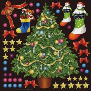デコレーションシール6351 チョークアート クリスマス4|area27
