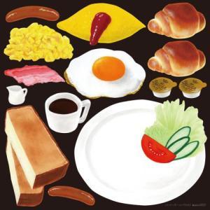 デコレーションシール6357 アクリル絵の具 朝食 トースト モーニング 取り寄せ|area27