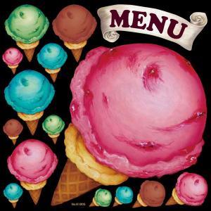 デコレーション シール 黒板 POP 看板ラベル ステッカー 61805 アイスクリーム かき氷 (...