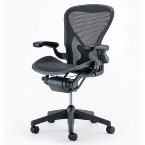 Herman Miller(ハーマンミラー) アーロンチェア ポスチャーフィット ライト 固定アーム Bサイズ(Aeron Chair posture fit Lite fixed arm B size)|arenot