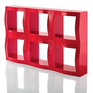 収納をスタイリッシュに見せる、ABS樹脂製のラックです。赤・白・黒の3色を縦横自由に連結し、スペース...