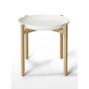 デザインハウスストックホルム タブロ トレイテーブル ホワイト Φ52cm H50cm Design...