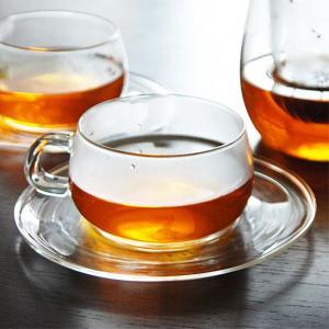 KINTO(キントー) ユニティ 耐熱ガラス カップ&ソーサー 230ml(UNITEA glass Cup & saucer 230ml)|arenot