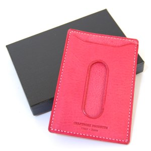 CRAFTWORK PRODUCTS(クラフトワーク プロダクツ) ミネルバ ボックス パスケース ピンク(MINERVA BOX PASS CASE pink)|arenot