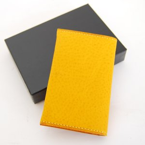 CRAFTWORK PRODUCTS(クラフトワーク プロダクツ) ミネルバ ボックス ダブル カードケース イエロー(MINERVA BOX DOUBLE CARD CASE yellow)|arenot