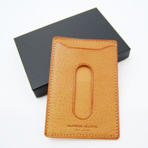 CRAFTWORK PRODUCTS(クラフトワーク プロダクツ) ミネルバ ボックス パスケース ナチュラル(MINERVA BOX PASS CASE natural)|arenot