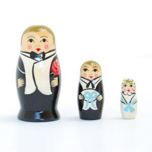 Matryoshka(マトリョーシカ) ウェディング マトリョーシカ 洋装 花婿 3個組(WEDDING MATRYOSHKA dress bridegroom 3set)|arenot