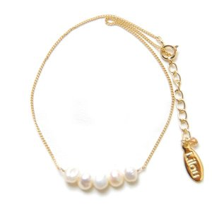 Lilou(リル) パール アンクレット ホワイト(PEARL ANKLET white)|arenot
