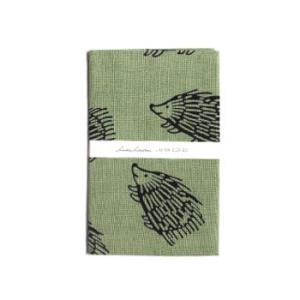 リサラーソン 手ぬぐい はりねずみ グリーン LISA LARSON TENUGUI hedgehog green / おしゃれ|arenot