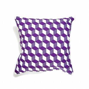 クンスト・バウム ジオメトリック クッションカバー パープル KUNST BAUM GEOMETRIC CUBE CUSHION COVER purple / おしゃれ|arenot