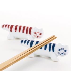 LISA LARSON(リサラーソン) 箸置き マイキー 波佐見焼(MIKEY HASHIOKI SET red/blue)|arenot