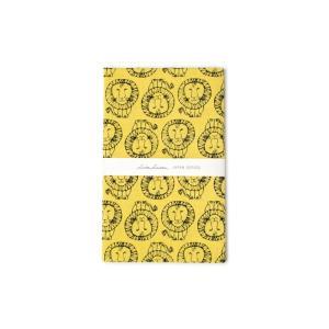 リサラーソン 捺染てぬぐい ライオン イエロー LISA LARSON TENUGUI LION yellow / おしゃれ|arenot