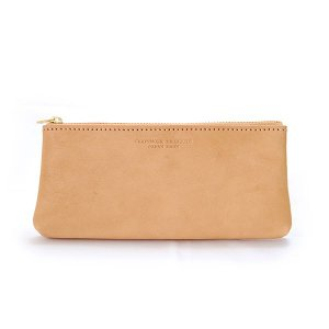 CRAFTWORK PRODUCTS(クラフトワーク プロダクツ) 栃木レザー フラットペンケース ナチュラル(tochigi leather FLAT PEN CASE natural)|arenot